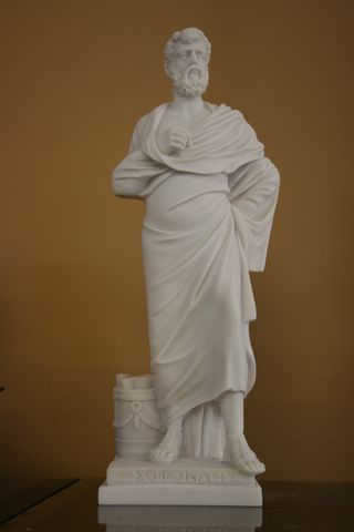 FABULOUS ANCIENT GREEK TRAGEDIAN SCULPTURE STATUE